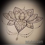 Фото Эскизы тату лотос - 19062017 - пример - 082 Sketches of tattoo lotus - tatufoto.com