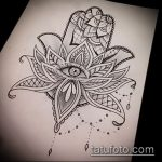 Фото Эскизы тату лотос - 19062017 - пример - 099 Sketches of tattoo lotus - tatufoto.com