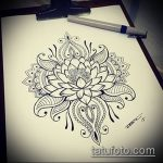 Фото Эскизы тату лотос - 19062017 - пример - 111 Sketches of tattoo lotus - tatufoto.com
