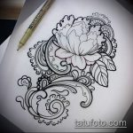 Фото Эскизы тату лотос - 19062017 - пример - 131 Sketches of tattoo lotus - tatufoto.com