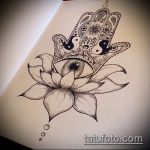 Фото Эскизы тату лотос - 19062017 - пример - 135 Sketches of tattoo lotus - tatufoto.com