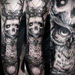 Фото готической татуировки - 30052017 - пример - 005 Gothic tattoo