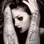 Фото готической татуировки - 30052017 - пример - 039 Gothic tattoo