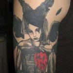 Фото готической татуировки - 30052017 - пример - 052 Gothic tattoo