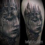 Фото готической татуировки - 30052017 - пример - 053 Gothic tattoo