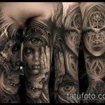 Фото готической татуировки - 30052017 - пример - 065 Gothic tattoo