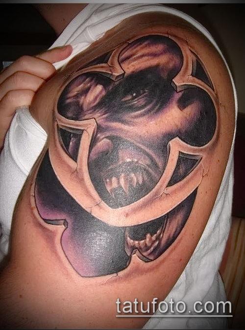 Фото готической татуировки - 30052017 - пример - 083 Gothic tattoo