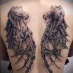 Фото готической татуировки - 30052017 - пример - 123 Gothic tattoo