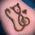 Фото кошка хной - мехенди - 12062017 - пример - 001 Cat henna - mehendi