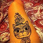 Фото кошка хной - мехенди - 12062017 - пример - 005 Cat henna - mehendi