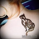 Фото кошка хной - мехенди - 12062017 - пример - 010 Cat henna - mehendi