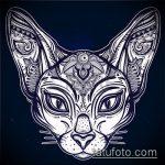 Фото кошка хной - мехенди - 12062017 - пример - 014 Cat henna - mehendi