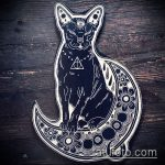 Фото кошка хной - мехенди - 12062017 - пример - 019 Cat henna - mehendi