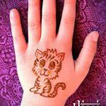 Фото кошка хной - мехенди - 12062017 - пример - 027 Cat henna - mehendi