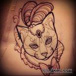 Фото кошка хной - мехенди - 12062017 - пример - 034 Cat henna - mehendi