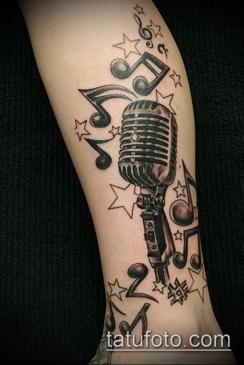 Фото музыкальных тату - 19062017 - пример - 002 Musical Tattoos - tatufoto.com