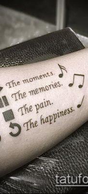 Фото музыкальных тату – 19062017 – пример – 013 Musical Tattoos – tatufoto.com