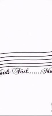 Фото музыкальных тату – 19062017 – пример – 119 Musical Tattoos – tatufoto.com