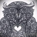 Фото рисунок совы хной мехенди - 04062017 - пример - 002 owl henna.610492263_amdr
