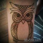 Фото рисунок совы хной мехенди - 04062017 - пример - 005 owl henna