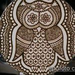 Фото рисунок совы хной мехенди - 04062017 - пример - 006 owl henna