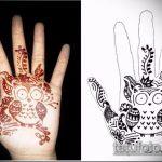 Фото рисунок совы хной мехенди - 04062017 - пример - 008 owl henna