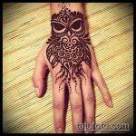 Фото рисунок совы хной мехенди - 04062017 - пример - 009 owl henna