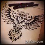 Фото рисунок совы хной мехенди - 04062017 - пример - 015 owl henna