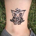 Фото рисунок совы хной мехенди - 04062017 - пример - 018 owl henna