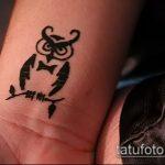 Фото рисунок совы хной мехенди - 04062017 - пример - 021 owl henna