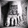 Фото рисунок совы хной мехенди - 04062017 - пример - 024 owl henna