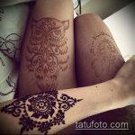 Фото рисунок совы хной мехенди - 04062017 - пример - 025 owl henna
