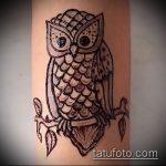 Фото рисунок совы хной мехенди - 04062017 - пример - 027 owl henna