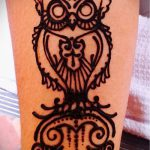 Фото рисунок совы хной мехенди - 04062017 - пример - 028 owl henna