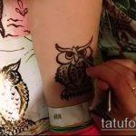 Фото рисунок совы хной мехенди - 04062017 - пример - 029 owl henna