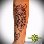 Фото рисунок совы хной мехенди - 04062017 - пример - 035 owl henna