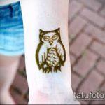 Фото рисунок совы хной мехенди - 04062017 - пример - 036 owl henna