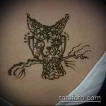 Фото рисунок совы хной мехенди - 04062017 - пример - 037 owl henna