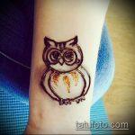 Фото рисунок совы хной мехенди - 04062017 - пример - 038 owl henna