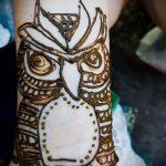 Фото рисунок совы хной мехенди - 04062017 - пример - 039 owl henna 131111