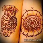 Фото рисунок совы хной мехенди - 04062017 - пример - 041 owl henna