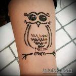 Фото рисунок совы хной мехенди - 04062017 - пример - 046 owl henna