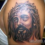 Фото тату Иисуса Христа №795 - интересный вариант рисунка, который удачно можно использовать для доработки и нанесения как тату иисуса христа в кресте