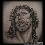 Фото тату Иисуса Христа №204 - интересный вариант рисунка, который успешно можно использовать для переделки и нанесения как тату иисуса христа на плече
