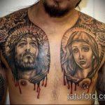 Фото тату Иисуса Христа №479 - достойный вариант рисунка, который удачно можно использовать для переделки и нанесения как тату иисуса христа в кресте
