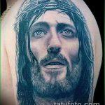 Фото тату Иисуса Христа №135 - эксклюзивный вариант рисунка, который успешно можно использовать для доработки и нанесения как тату иисуса христа и дьявола