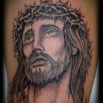 Фото тату Иисуса Христа №908 - интересный вариант рисунка, который хорошо можно использовать для переработки и нанесения как тату иисуса христа на предплечье