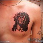 Фото тату Иисуса Христа №248 - интересный вариант рисунка, который хорошо можно использовать для переработки и нанесения как тату иисуса христа на спине