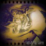 Фото тату Иисуса Христа №486 - эксклюзивный вариант рисунка, который удачно можно использовать для преобразования и нанесения как тату иисуса христа и дьявола
