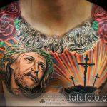 Фото тату Иисуса Христа №154 - эксклюзивный вариант рисунка, который успешно можно использовать для доработки и нанесения как тату иисуса христа за столом
